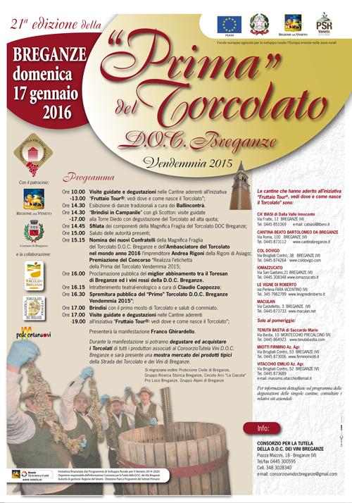 PRIMA DEL TORCOLATO 2016: il Programma