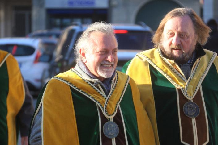 Da sinistra a destra: Plinio Bonollo, presidente del Consorzio Tutela Vini DOC Breganze, con Umberto Galvan - Prima del Torcolato 2017 - ph.Stella