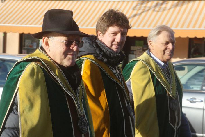 Da sinistra a destra: Antonio Brian, Andrea Mazzucato ed Ermanno Zenari - Prima del Torcolato 2017 - ph.Stella
