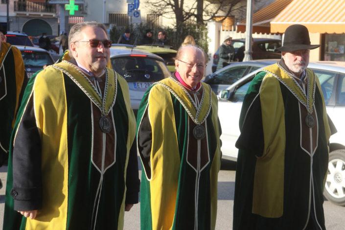 Da sinistra a destra: Ausonio Zanazzo, Roberto Farina, e Gigi Costa - Prima del Torcolato 2017 - ph.Stella