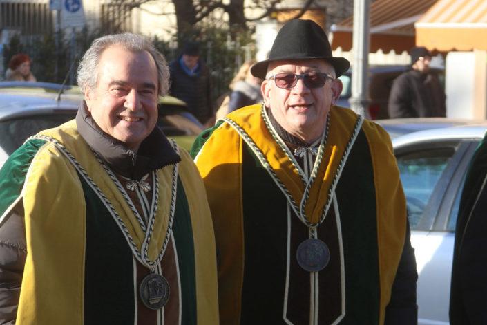 Da sinistra a destra: Roberto Benazzoli ed Andrea Cozza, produttori di Torcolato rispettivamente nelle cantine Le Vigne di Roberto e Transit Farm - Prima del Torcolato 2017 - ph.Stella